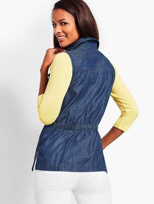 Talbots Casual Chambray Vest