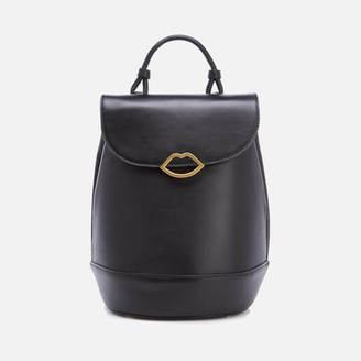 Lulu Guinness Women's Joanna Smooth Leather Backpack Black