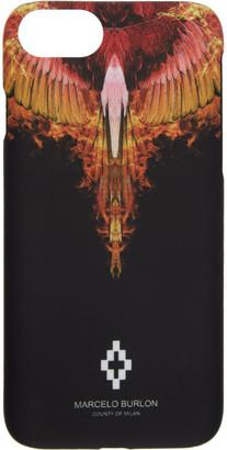 Marcelo Burlon County of Milan Black and Orange Flame iPhone 8 Case