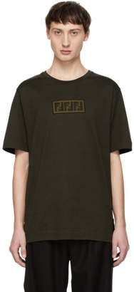 Fendi Brown Forever Patch T-Shirt