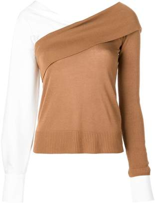 ADEAM contrast long-sleeve sweater