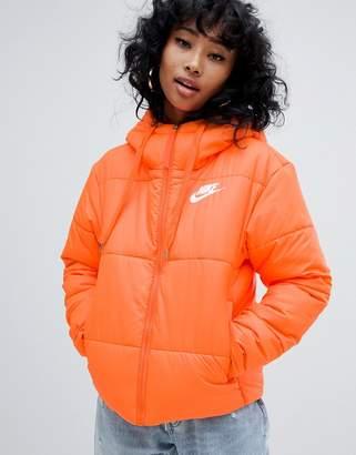 8dd374d5c2 Nike Orange Small Logo Padded Jacket
