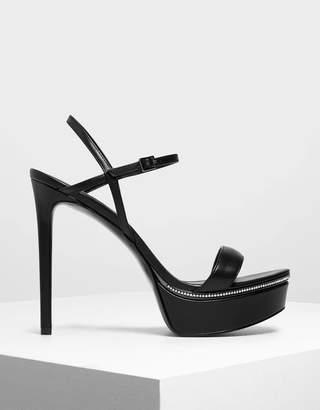 Charles & Keith Gem Encrusted Platform Heels