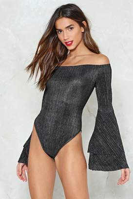Nasty Gal This is What You Came For Glitter Bodysuit