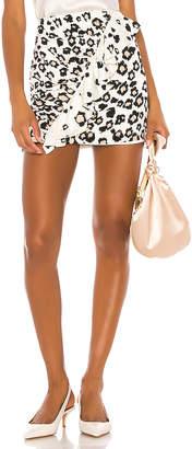 Karina Grimaldi Danielle Print Mini Skirt