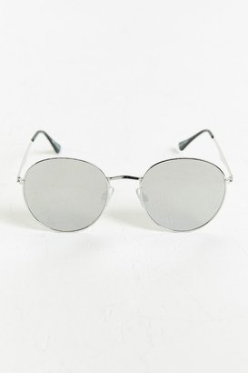 Urban Outfitters Metal Flat Lens Round Sunglasses $18 thestylecure.com
