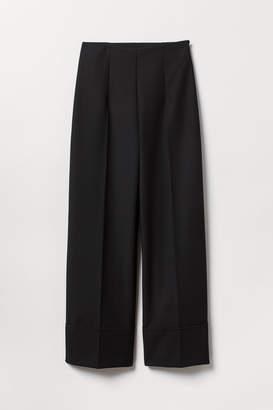 H&M Wide-leg Suit Pants - Black