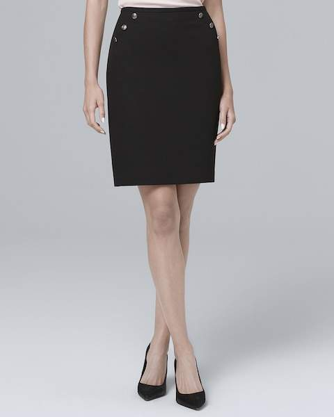 Whbm Luxe Suiting Pencil Skirt