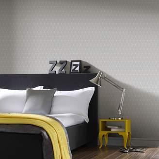 Graham & Brown Triangolin Grey Geometric Wallpaper