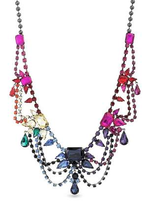 Steve Madden Multi-Cut Rhinestone Bib Necklace