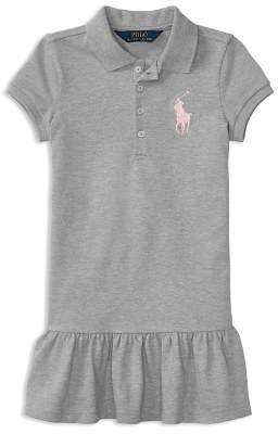 Ralph Lauren Girls' Ruffled Shirt Dress - Little Kid