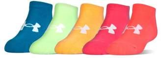 Under Armour Girls' UA Big Logo No Show Socks 6-Pack