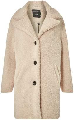 Dorothy Perkins Womens Oatmeal Teddy Coat
