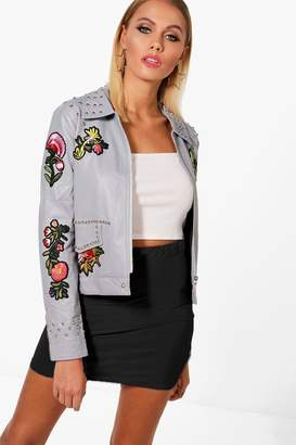 boohoo Boutique Studded Embroidered Jacket