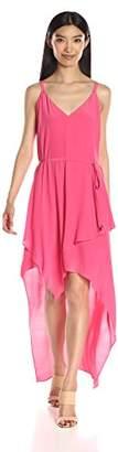 Adelyn Rae Women's Tie Waist High Low Dress
