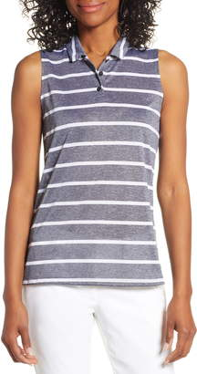 Nike Dri-FIT Stripe Sleeveless Polo
