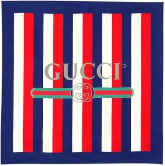 Gucci Sylvie striped silk scarf