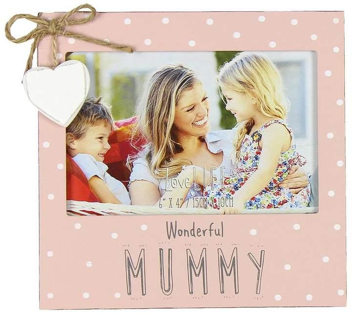 Mothers Day Love Life Photo Frame 6 X 4 Inch - Wonderful Mummy
