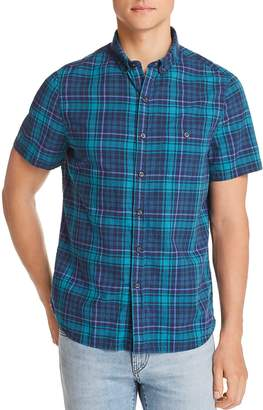 Michael Bastian Plaid Short-Sleeve Regular Fit Button-Down Shirt
