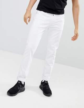Emporio Armani J06 Slim Fit White Jeans