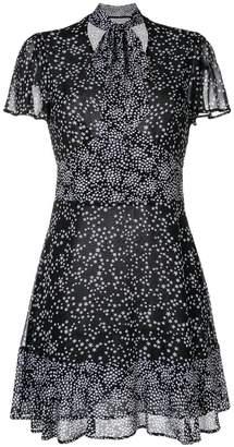 MICHAEL Michael Kors star print tie-neck dress