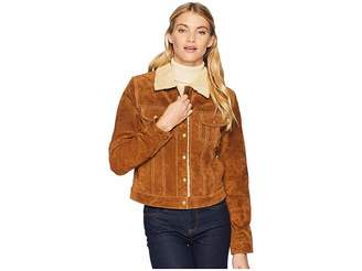 Scully Raewyn Sherpa Suede Ladies Fun Little Jean Jacket