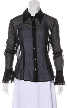 Dolce & Gabbana Semi-Sheer Collared Top