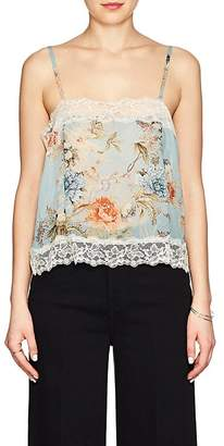 Icons Women's Lace-Trimmed Floral Chiffon Cami