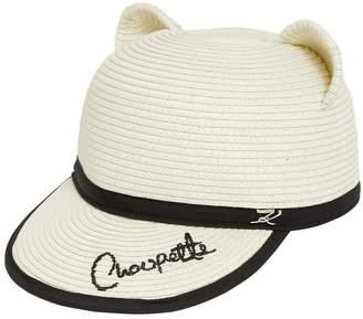 Karl Lagerfeld Woven Choupette Ears Hat