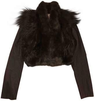 Meteo Black Rabbit Leather Jacket for Women