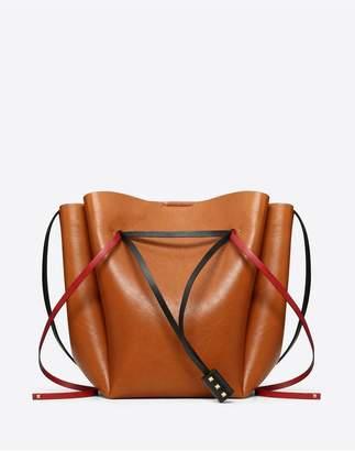 Valentino Garavani Large Vlogo Cowhide Bucket Bag