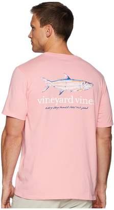 Vineyard Vines Short Sleeve Painted Tarpon Pocket Tee Men's T Shirt
