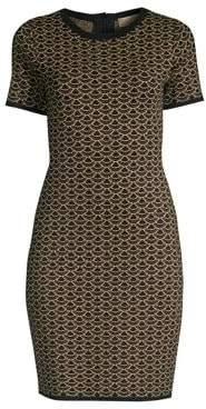MICHAEL Michael Kors Lurex Jacquard Mini Sheath Dress