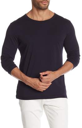 Vince Reverse Hem 3/4 Sleeve Crew Shirt