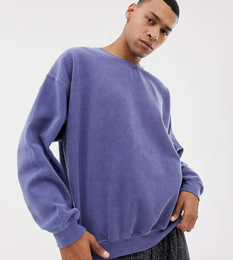 Reclaimed Vintage Inspired Oversized Sweatshirt In Washed Navy