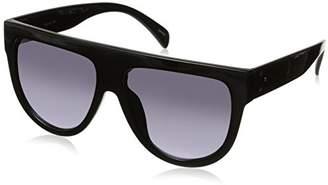 Zerouv Large Oversize Wide Temple Flat Top Aviator Sunglasses