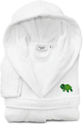 Asstd National Brand Linum Kids 100% Turkish Cotton Hooded Terry Bathrobe -Turtle