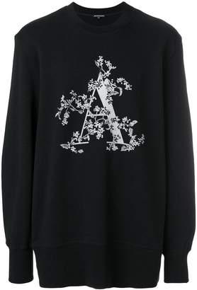 Ann Demeulemeester Blanche initial print sweatshirt