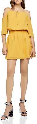 BCBGeneration Cold-Shoulder Smocked Dress