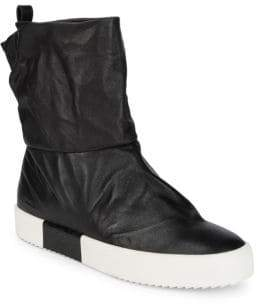 Giuseppe Zanotti Pull-On Leather Ankle Boots
