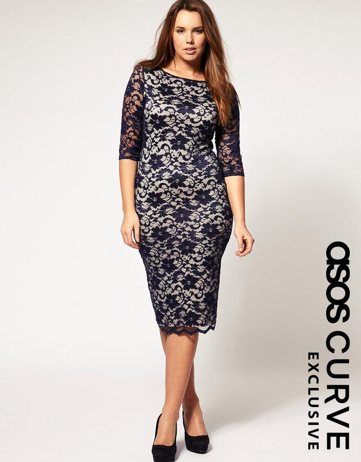 ASOS CURVE Exclusive Midi Lace Dress