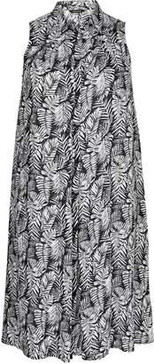 Evans Palm Print Sleeveless Dress