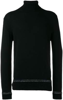 Dondup stitch detail turtle neck sweater