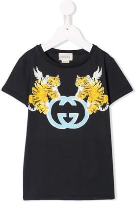 Gucci Kids Winger Tiger T-shirt