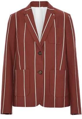 Brunello Cucinelli Striped Cotton-Faille Blazer