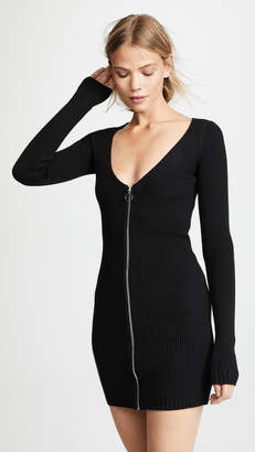 For Love & Lemons Annie Zipper Mini Dress