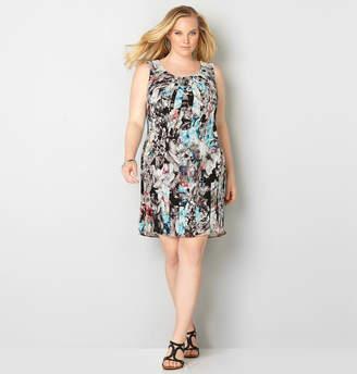Avenue Digital Floral Chiffon Dress