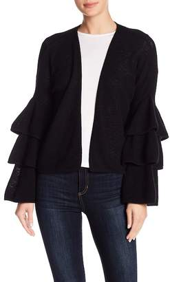 Minnie Rose Tiered Bell Sleeve Cashmere Cardigan