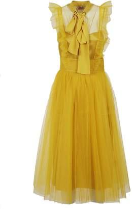 N°21 N.21 Ruffled Trim Dress