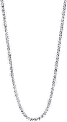 Concerto Sterling Silver and 1 CT. T.W. Diamonds Braided Necklace